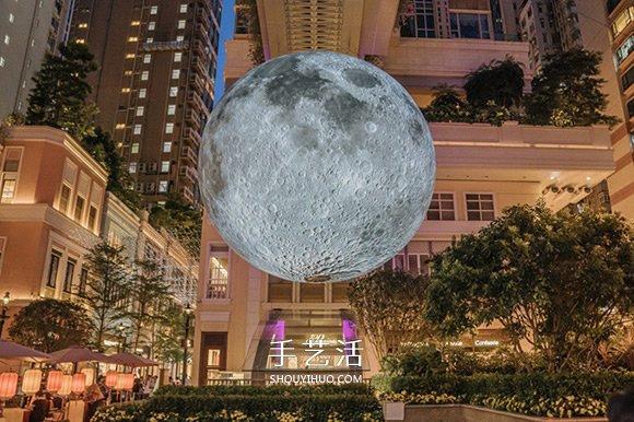 不一样的赏月体验! 巨型月亮装置艺术作品 -  www.shouyihuo.com