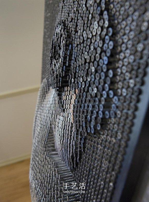 旋紧或松开,上万个螺丝钉制作的3D立体画像 -  www.shouyihuo.com