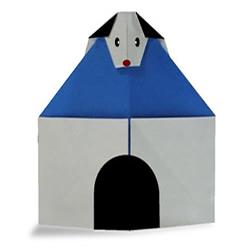 简单狗窝的折纸方法 幼儿折狗窝的图解教程