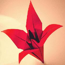 简单折纸百合的方法 手工百合花折叠教程