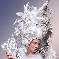 俄罗斯纸雕家的诠释 巴洛克式假发纸雕图片