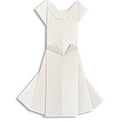 婚纱和西装的折法图解 折纸婚礼服装的方法