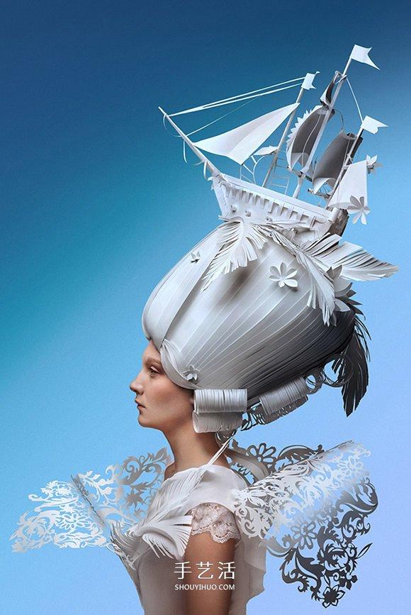 俄罗斯纸雕家的诠释 巴洛克式假发纸雕图片 -  www.shouyihuo.com