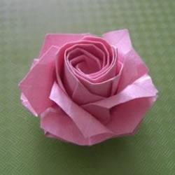 福山玫瑰折法图解教程 清晰大图福山玫瑰折纸