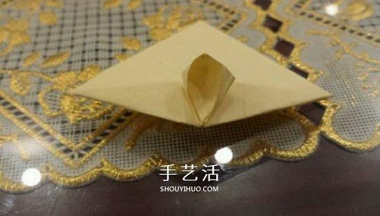 漂亮立体雨伞折纸图解 纸雨伞的折法步骤图
