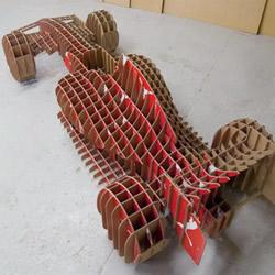鞋盒废物利用做赛车 F1赛车模型的手工作品