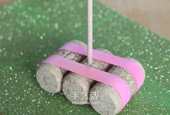 简单小帆船制作方法 红酒瓶塞DIY会浮的小船 -  www.shouyihuo.com