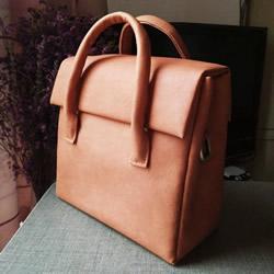自制简洁手提包方法 女用朴素手提包DIY图解
