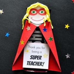 幼儿教师节创意礼物 巧克力超人老师制作方法
