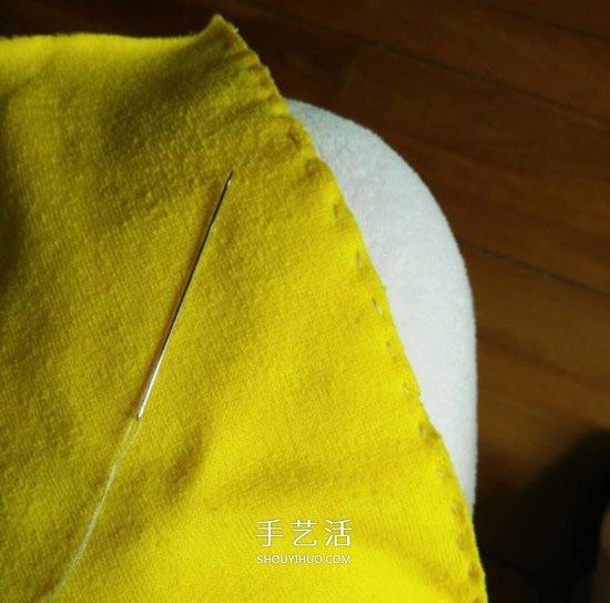 旧衣服改造南瓜抱枕 手工布艺南瓜抱枕制作