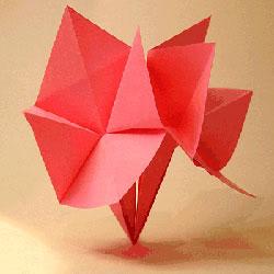 简单百合花的折法图解 幼儿折纸百合的教程
