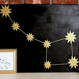 星空图案装饰画DIY 简单自制星空画装饰图解