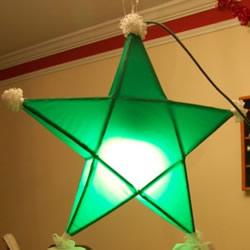 立体星星圣诞灯的做法 自制五角星圣诞灯图解