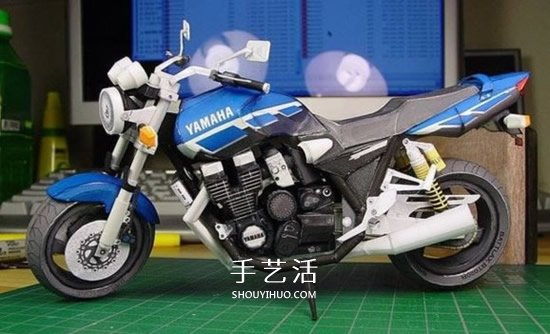 YAMAHA XJR1300 经典摩托车纸模型作品赏 -  www.shouyihuo.com