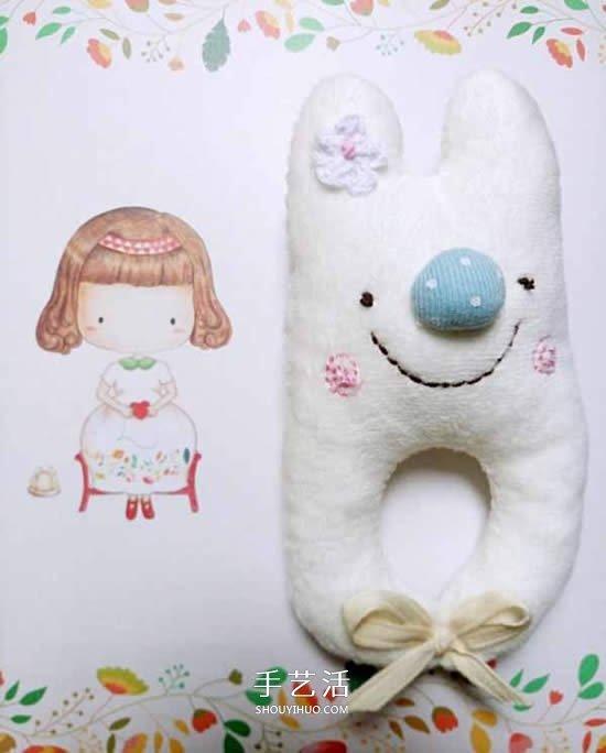 兔宝宝手摇铃的做法 布艺卡通手摇铃制作图解 -  www.shouyihuo.com
