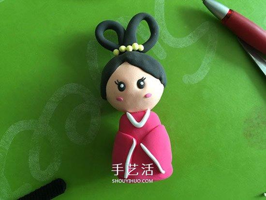 儿童粘土制作嫦娥人偶 怎么做粘土嫦娥图解 -  www.shouyihuo.com