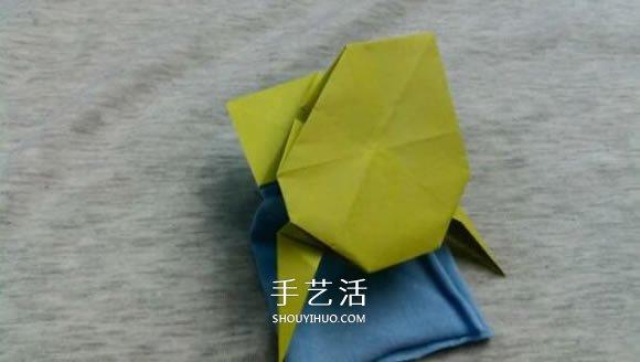 立体青蛙折纸步骤图 复杂折青蛙的方法和图片