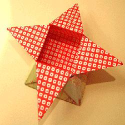 花朵收纳盒怎么折图解 简易漂亮纸盒的折法