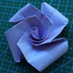 超简单玫瑰花怎么折 不难玫瑰花的折纸图解