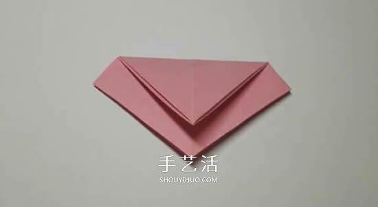 圣诞节折纸圣诞花图解 平面圣诞花的折法步骤图片