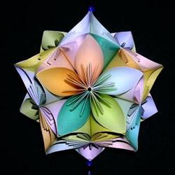 手工五瓣花球折纸图解 怎么折纸五瓣花花球