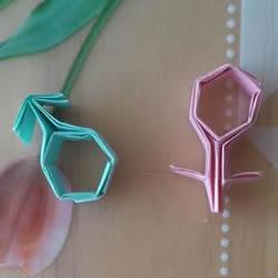 ♂♀男女图标折纸图解 还可以当可爱戒指用