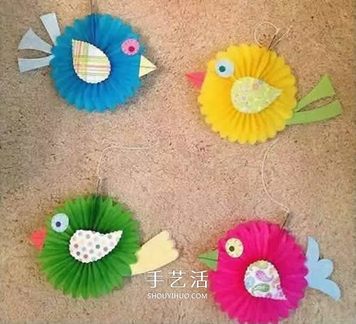 卡纸动物手工制作方法 幼儿园小动物DIY图片 -  www.shouyihuo.com