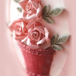 衍纸玫瑰花的做法教程 制作立体玫瑰花贺卡