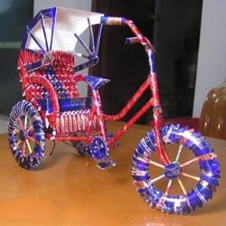 烟盒手工制作黄包车 你想要双轮还是三轮的?