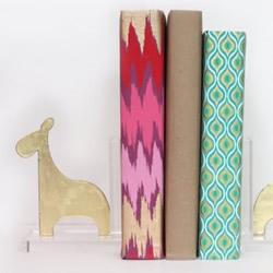 自制卡通书挡的方法 亚克力板长颈鹿书立DIY