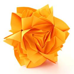 组合玫瑰花的折法教程 还可以做出玫瑰花球