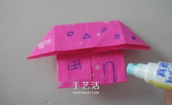 幼儿园学折小房子教程 最简单小房子折法图解