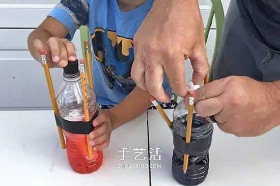 """小苏打和醋的化学小实验:""""一飞冲天"""" -  www.shouyihuo.com"""