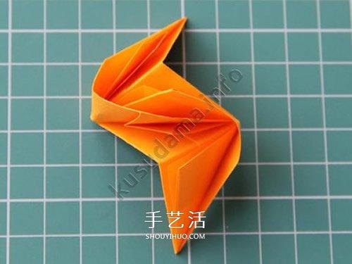 组合玫瑰花的折法教程 还可以做出玫瑰花球 -  www.shouyihuo.com