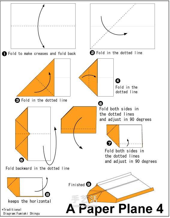纸飞机怎么折飞得久 最简单的飞机折法图解 -  www.shouyihuo.com
