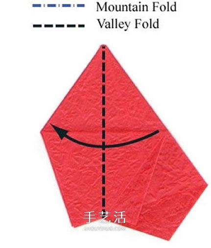 漂亮五瓣玫瑰花的折纸教程,不但需要有娴熟的折纸技艺,还要熟练使用镊子弯折出玫瑰花瓣的天然质感。