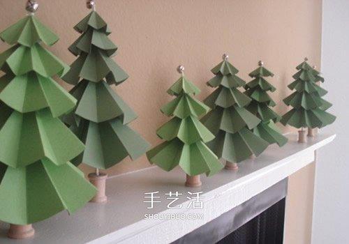 10个漂亮的手工圣诞树图片 都用纸制作而成