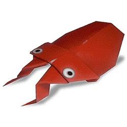 简单甲虫的折纸方法 幼儿手工甲虫的折法图解