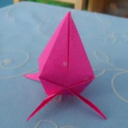 儿童折纸桃子的教程 简单小桃子怎么折图解
