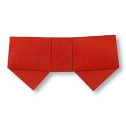 最简单蝴蝶结的折法 幼儿手工折纸蝴蝶结教程