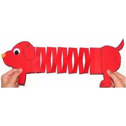 幼儿园手工制作弹簧狗 彩纸做玩具狗狗的