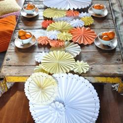 餐桌装饰纸花的做法 简单易学装饰花手工制作