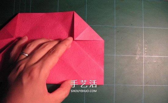 GG玫瑰花的折法图解 漂亮又详细玫瑰花折纸 -  www.shouyihuo.com