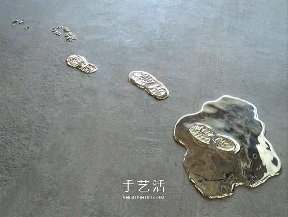"""名副其实的""""流金""""岁月 模拟液体的黄铜雕塑 -  www.shouyihuo.com"""