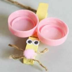幼儿园小老鼠手工制作 木夹子做老鼠的方法