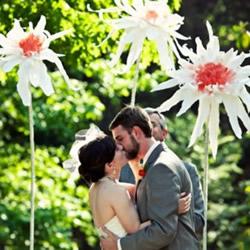 简单又漂亮大纸花的做法 可以用作婚礼装饰