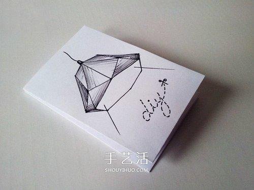 卡纸制作几何灯罩图片 既文艺又未来感十足 -  www.shouyihuo.com