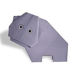 幼儿折纸小河马图解 最简单河马的折法教程
