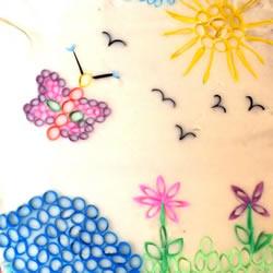 幼儿吸管画作品图片 简单又漂亮吸管拼贴画