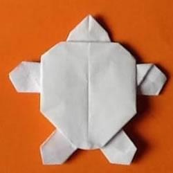 平面乌龟的折纸方法 简单小乌龟怎么折图解